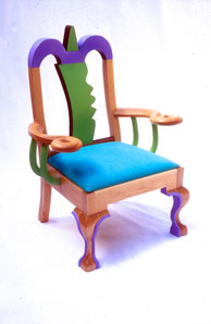 Queen Anne Chair with Triangle